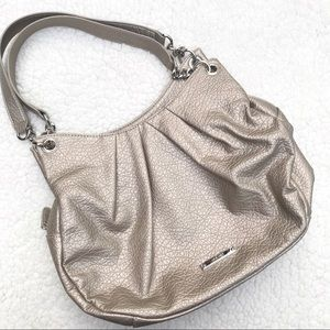 NINE WEST Silver Chain Strap Shoulder Purse Bag
